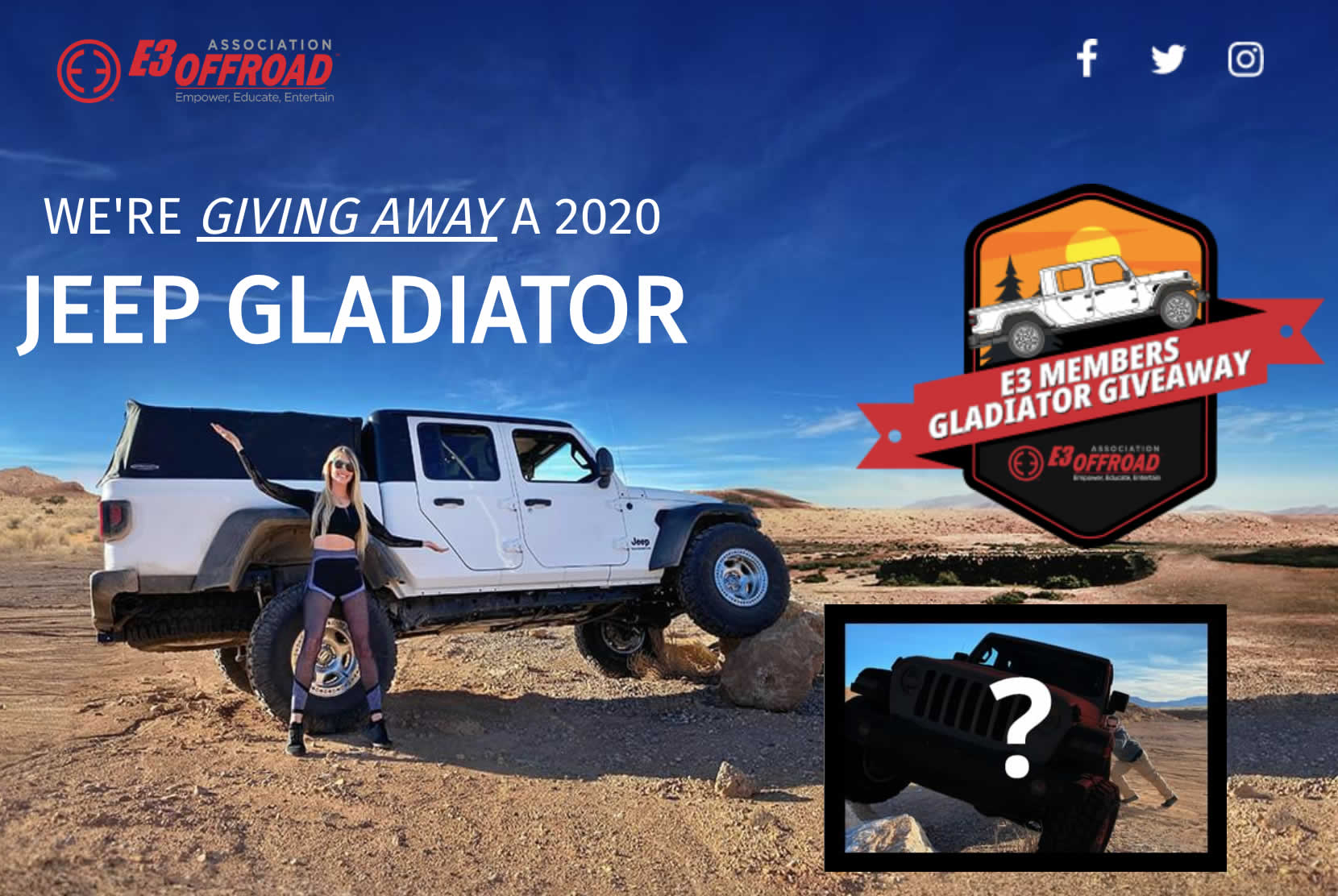 Enter to Win E3 Offroad's Tricked Out 2020 Jeep Gladiator!