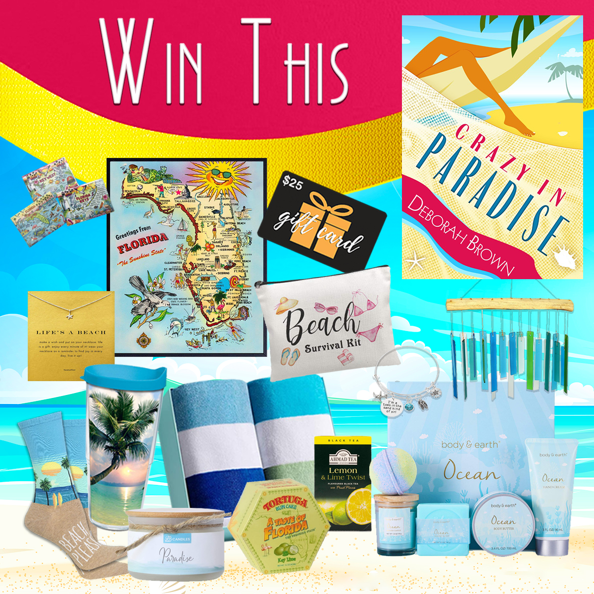 Ener to win a paradise prize pack from bestselling author Deborah Brown!