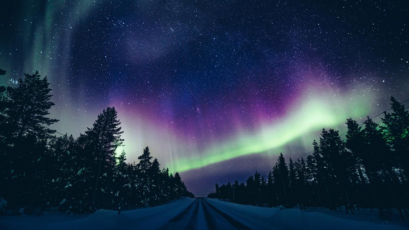 Lapland Winer Sunset